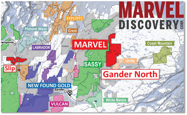 MARVEL ACQUIRES GROUND CONTIGUOUS TO SASSY EAST OF NEW FOUND'S QUEENSWAY PROJECT