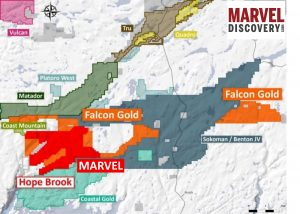 MARVEL APPLIES FOR WORK PERMITS AT HOPE BROOK, CONTIGUOUS TO FALCON GOLD – BENTON & SOKOMAN
